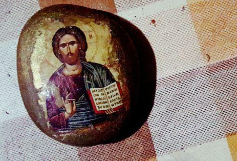 Ikona namalowana na kamieniu